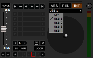 The drop-down menu allows you to select your output channel.