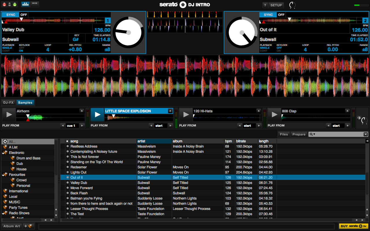 Serato DJ intro full screenshot