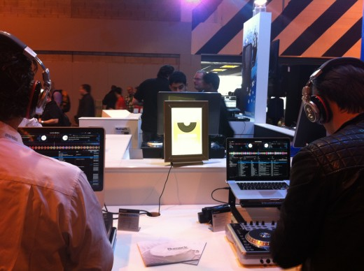Playing with Serato DJ Intro at the Numark stand