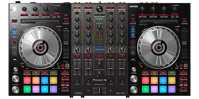 Pioneer DJ DDJ-SX3 Top Down