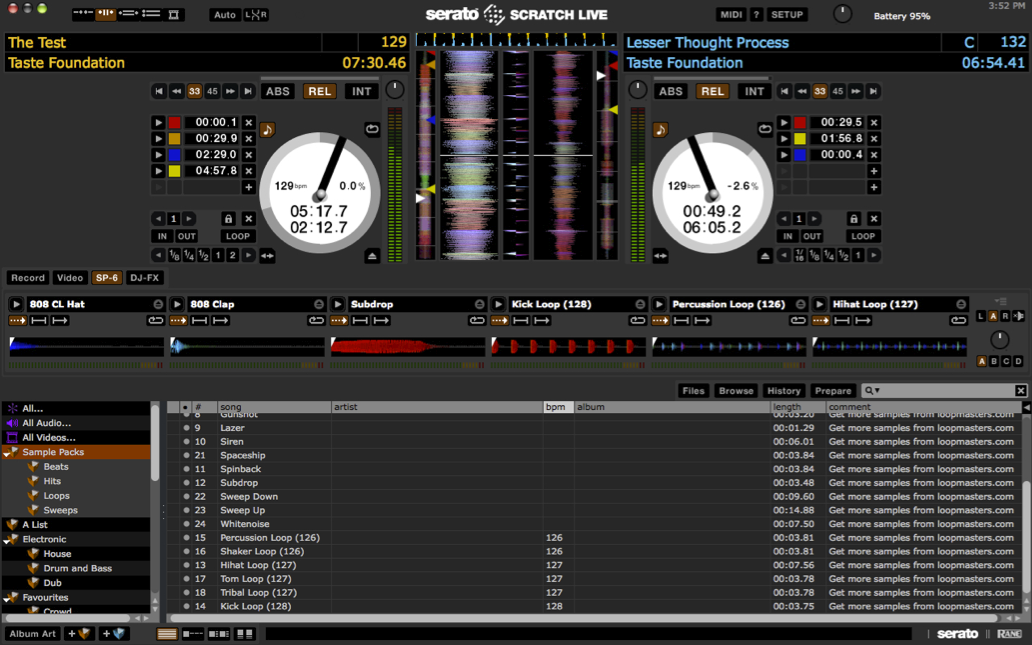 Updating serato scratch live