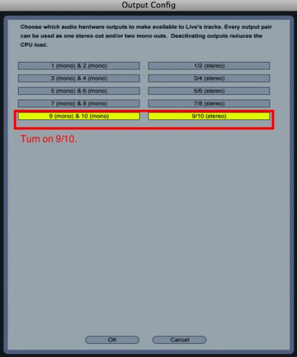 Choose 9/10 for Output Config