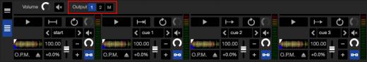 Audio Output e Fx Routing