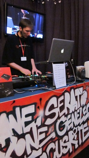 DJ Res-Q doing a demo