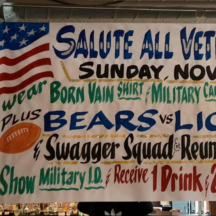 A Night @ The Family Den-Sunday Funday Football Party-Veteran's Day Edition