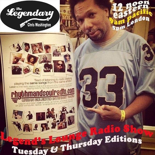 Legend's Lounge Radio Show with The Legendary Chris Washington 4/6/21