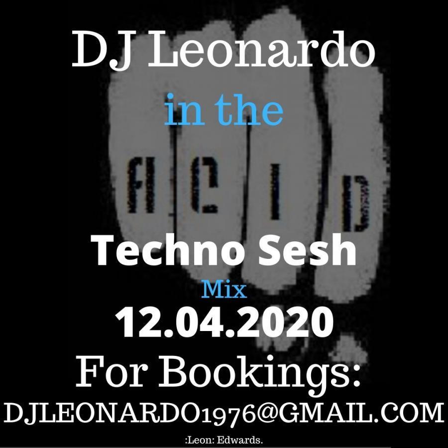 DJ Leonardo Sunday Acid Techno Sesh on Twitch Live Stream Set 12/04/2020