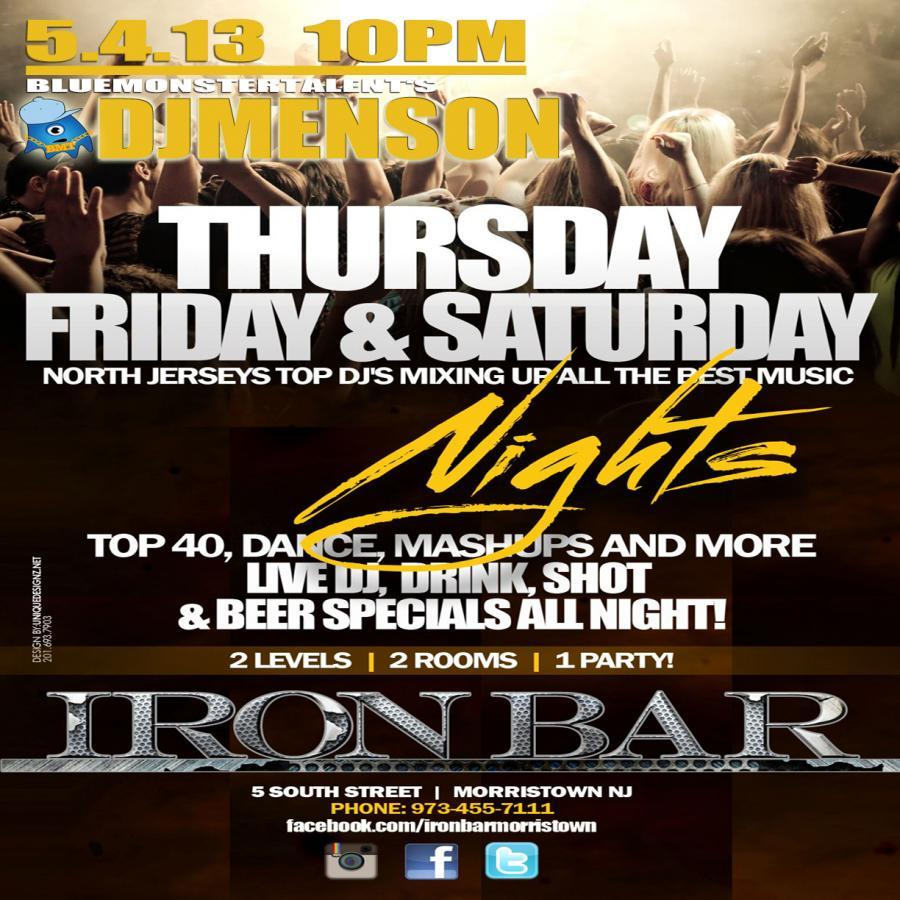 5/4/13 @ Iron Bar (Morristown, NJ)