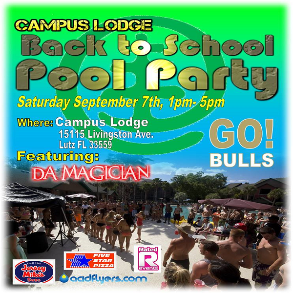 Back 2 School Pool Party 2013