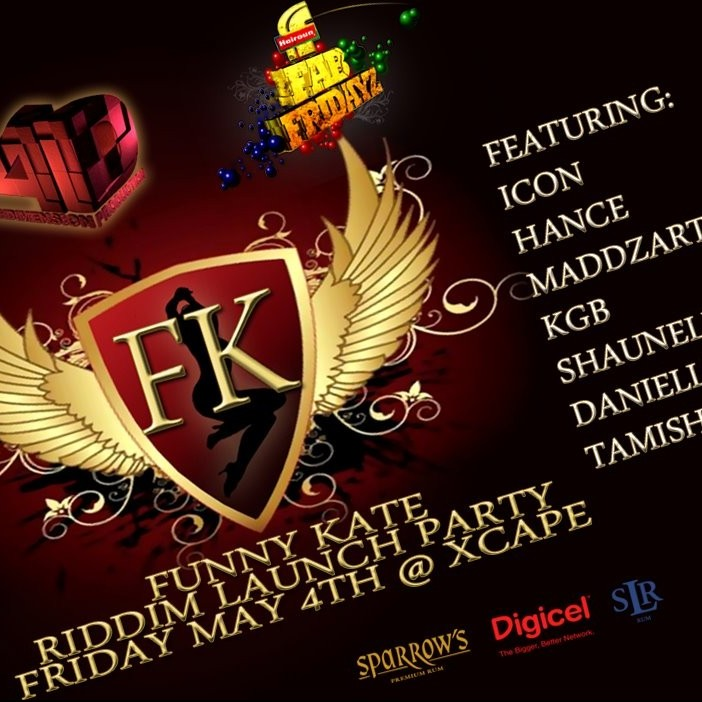 Fab Fridayz Funny Kate Riddim Release Party @ Xcape 5/4/2012