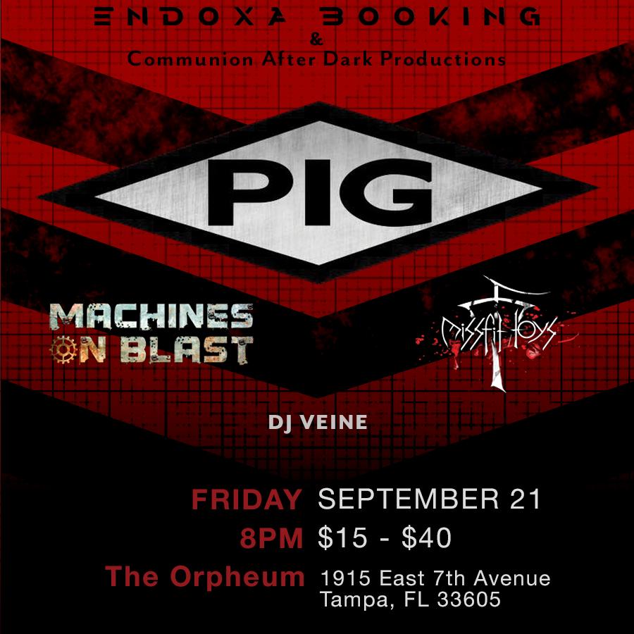 PIG Concert set list