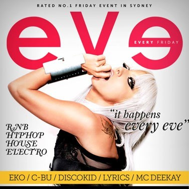 EVE, 16th September, 10pm-11.30pm