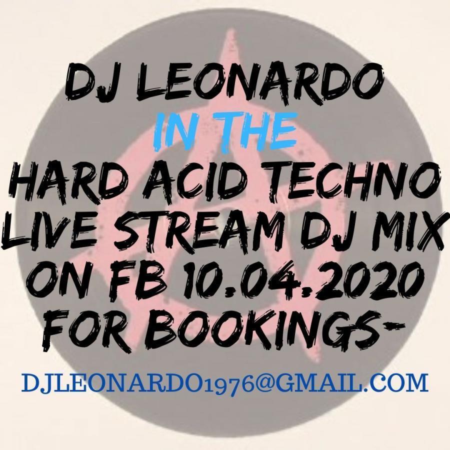 Hard Acid Techno Live stream DJ set on FB 10/04/2020