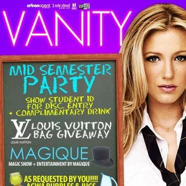 Vanity, 24th September 2011, 10pm-11pm