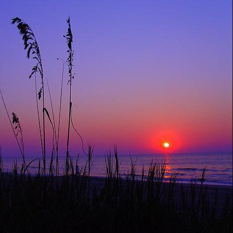 Evening beach set