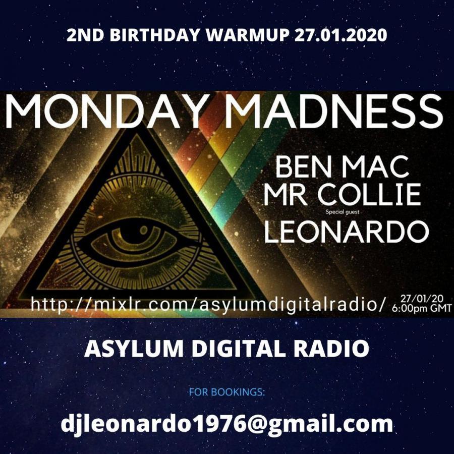 2nd Birthday Warmup - Monday Madness Show - Asylum Digital Radio 27/01/2020
