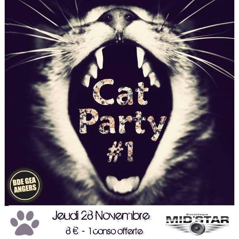 Soirée CAT PARTY (BDE GEA) Jeu. 28 Nov. 2013