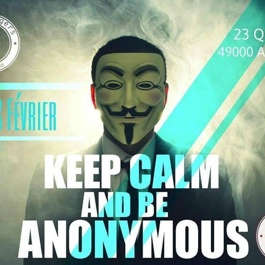 Soirée Keep Calm And Be Anonymous (BERGSON) Ven. 28 Fév. 2014