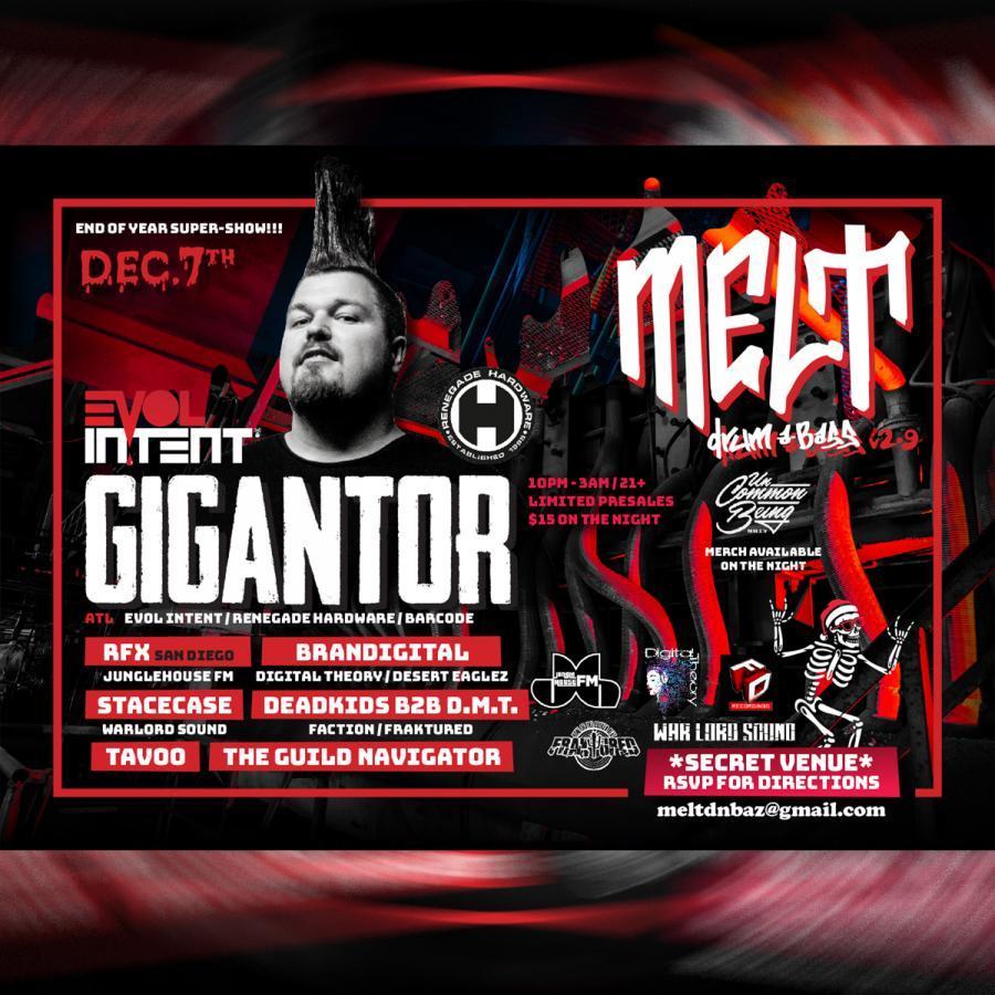 melt set from Gigantor show Dec 7 2019